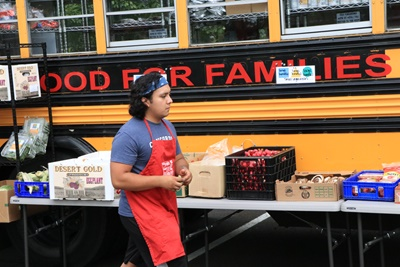 Photo of Antonio Martinez, one of the Centennial High School students who helped start Food for Families.