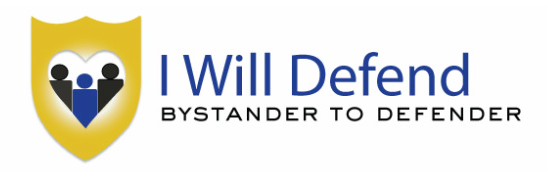 """I Will Defend"" logo"