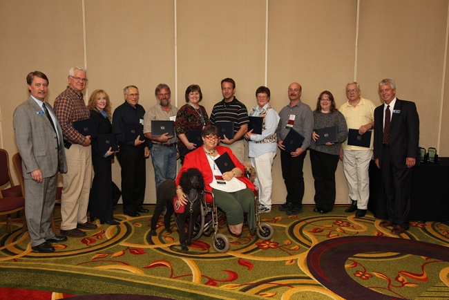 This is an image of Bronze award recipients.