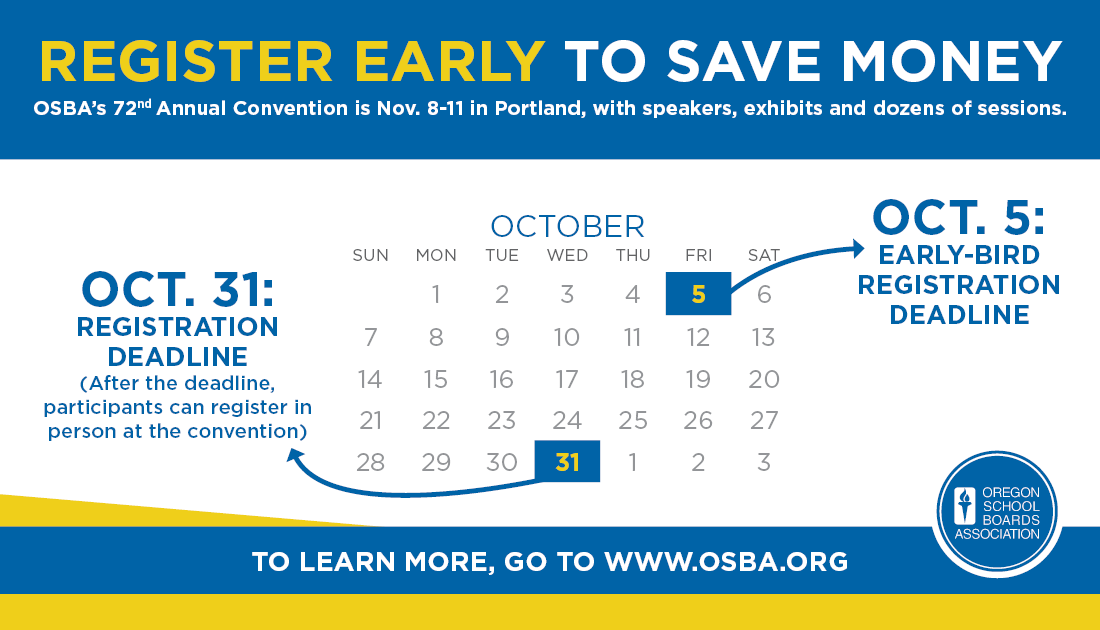 Convention deadline graphic