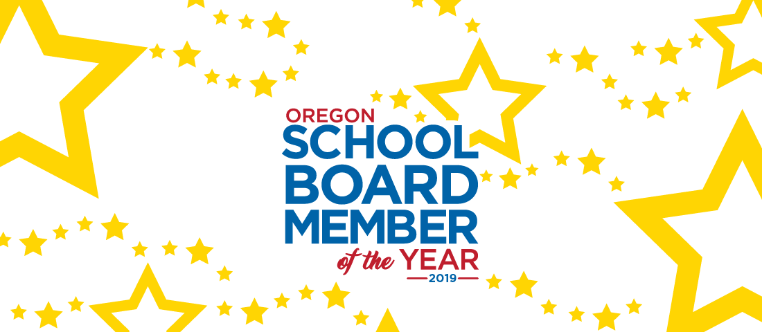 School board member of year graphic