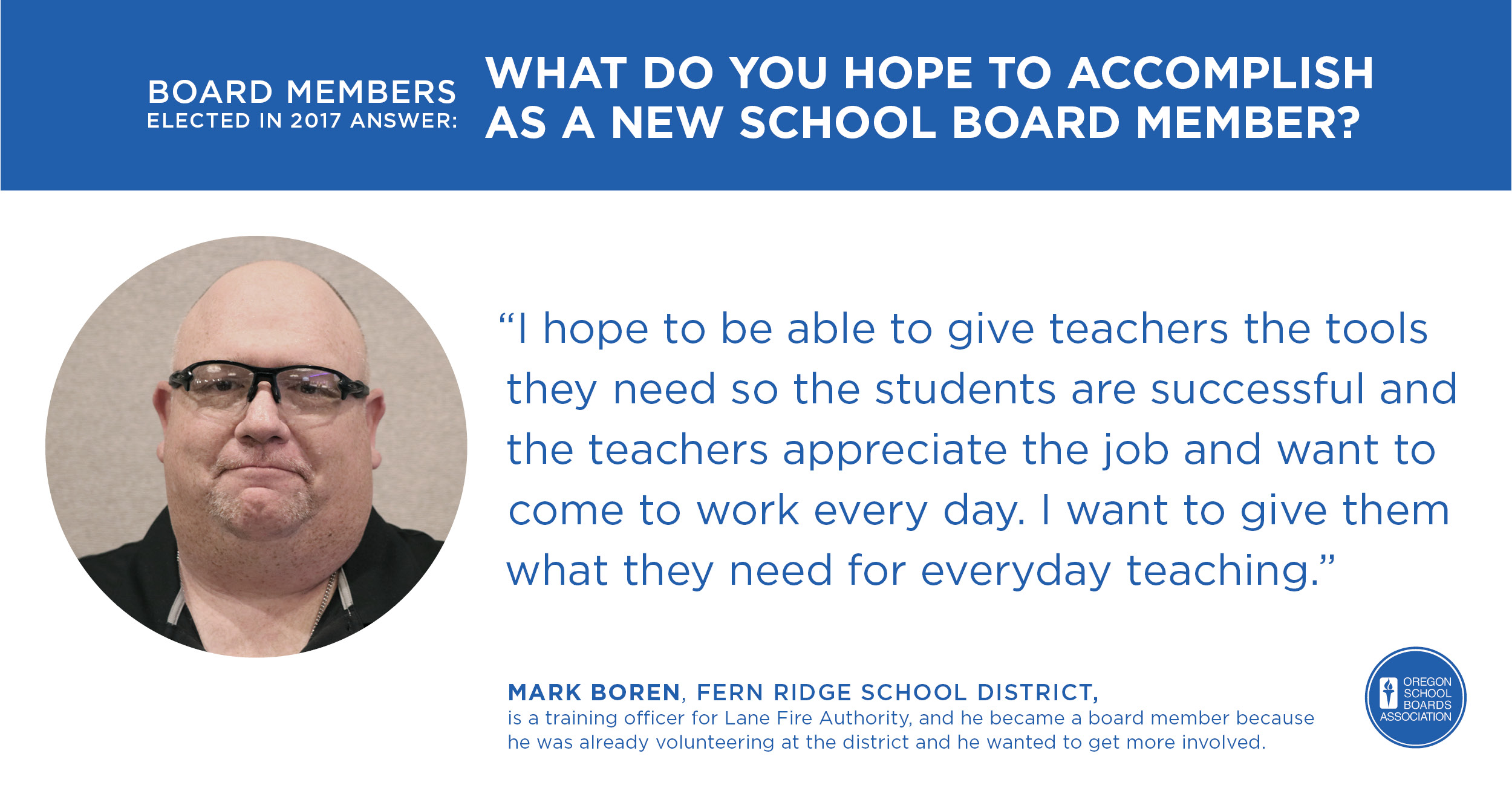 Quote and photo of Mark Boren
