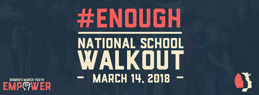 ENOUGH National School Walkout graphic