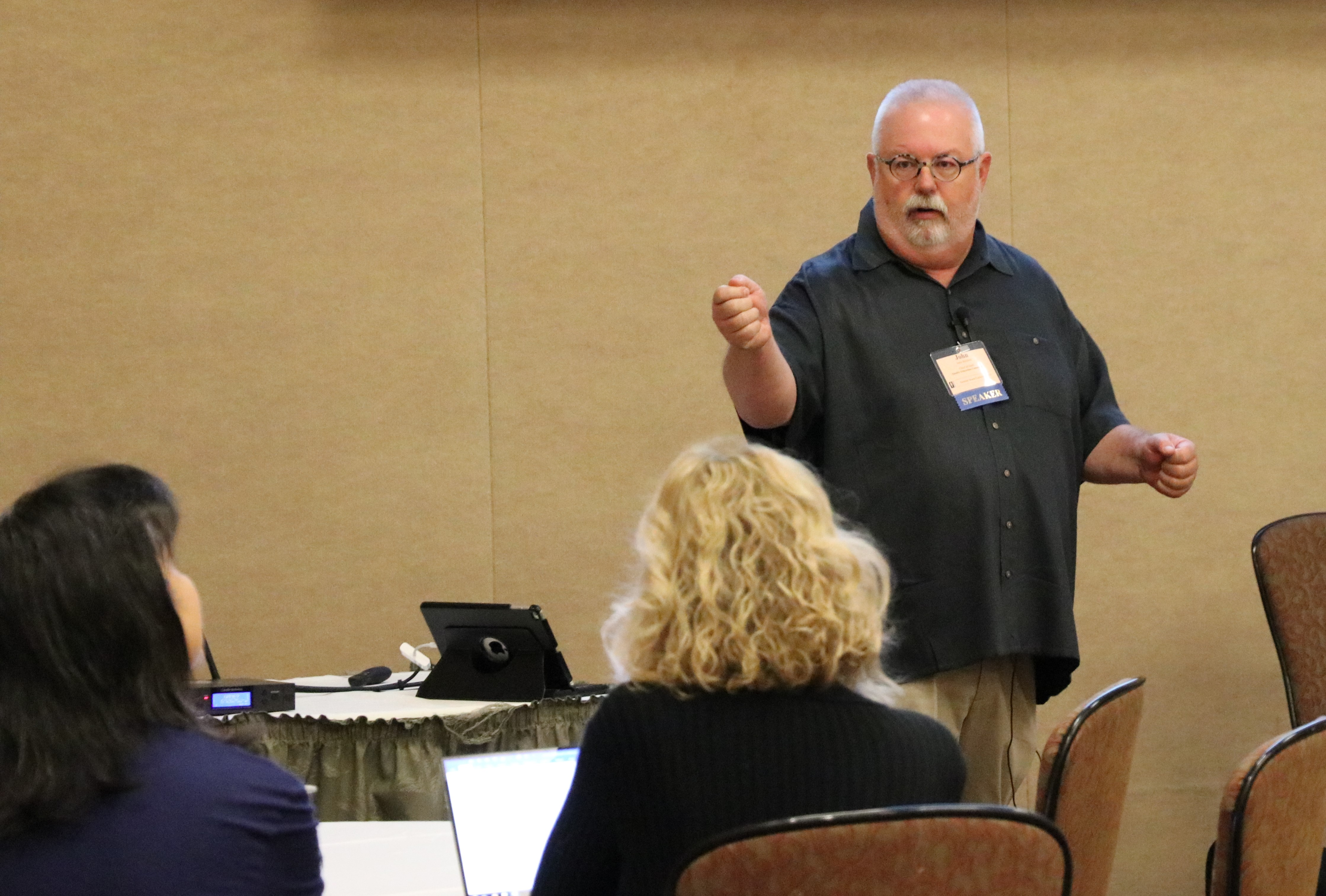 Quality Education Commission member John Rexford told school board members about the Quality Education Model at OSBA's July conference in a session on chronic underfunding of K-12 public education in Oregon.