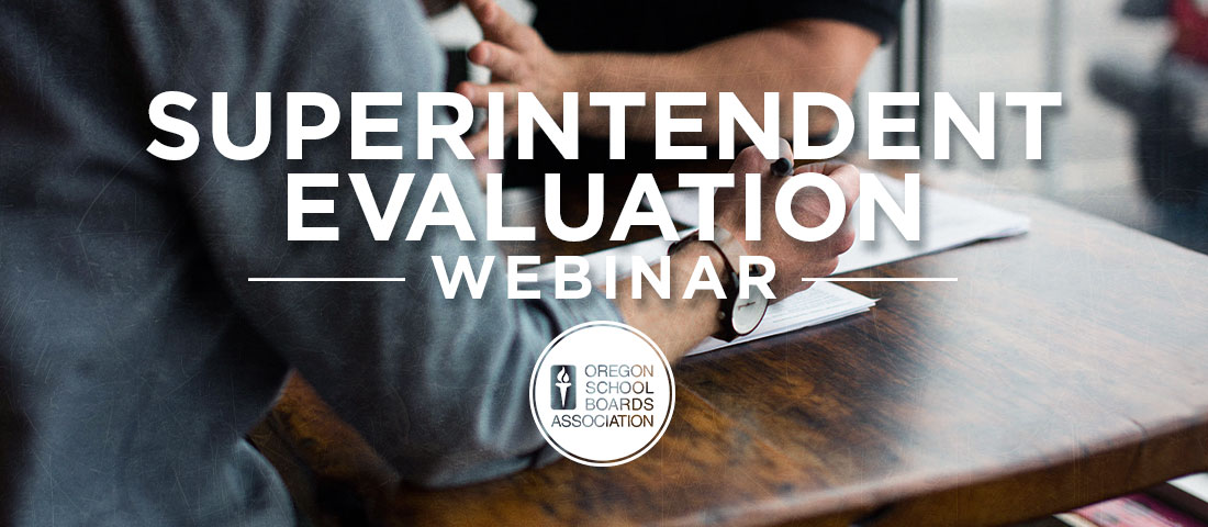 Superintendent Evaluation Webinar