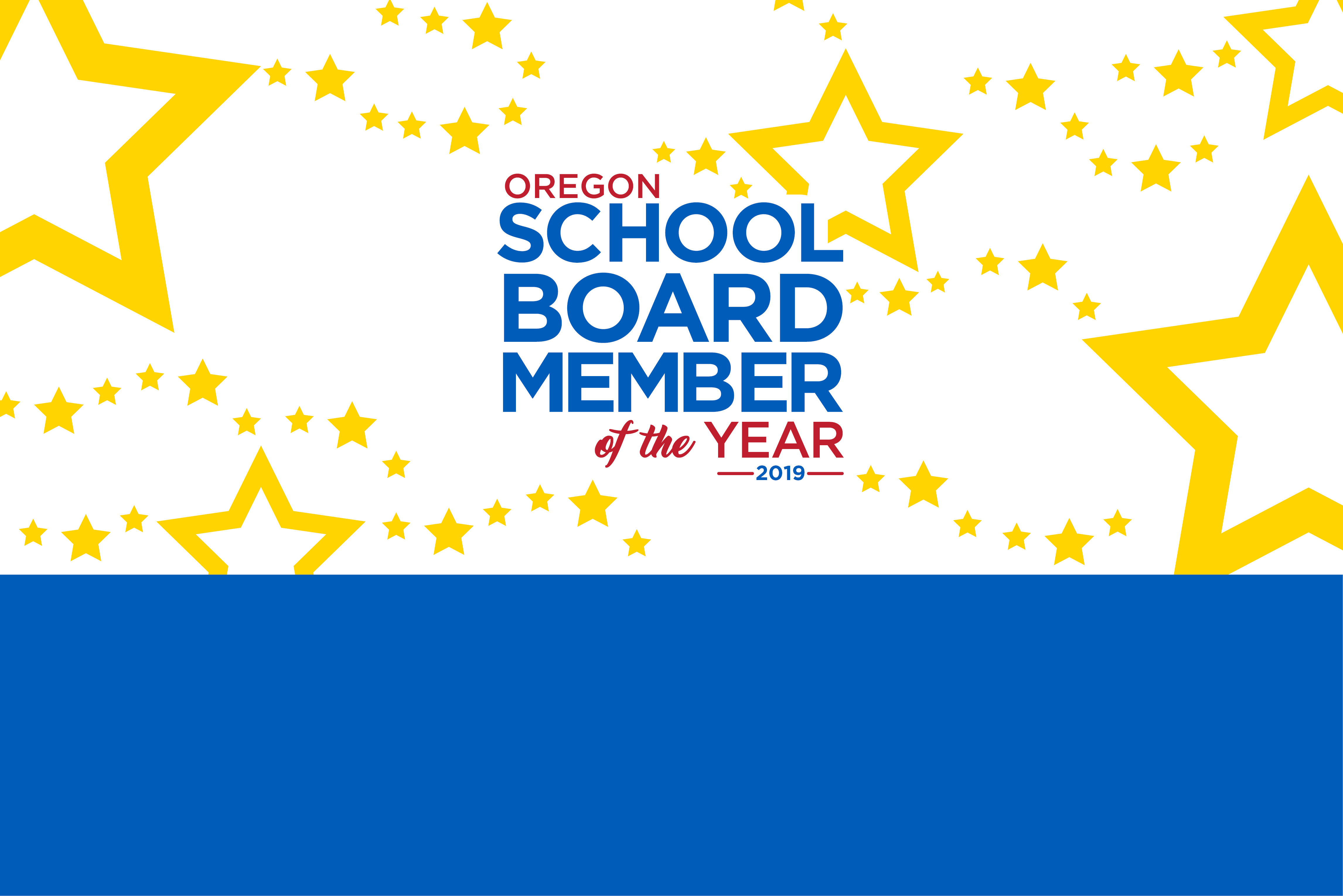 school board member of the year banner