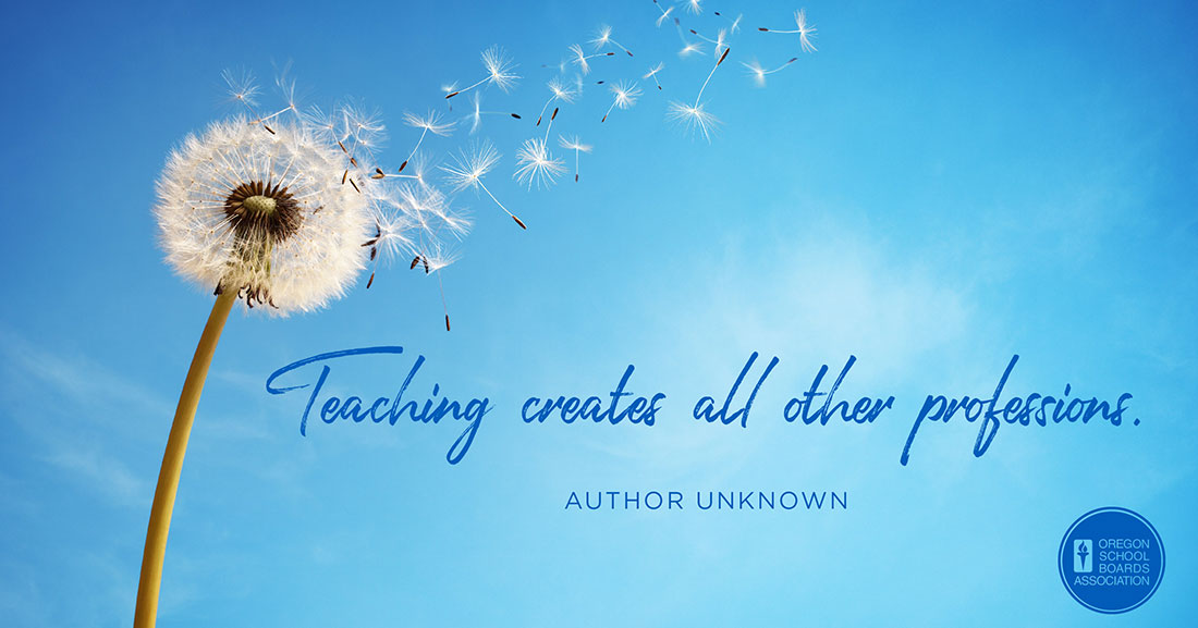 Teaching creates all other professions Graphic