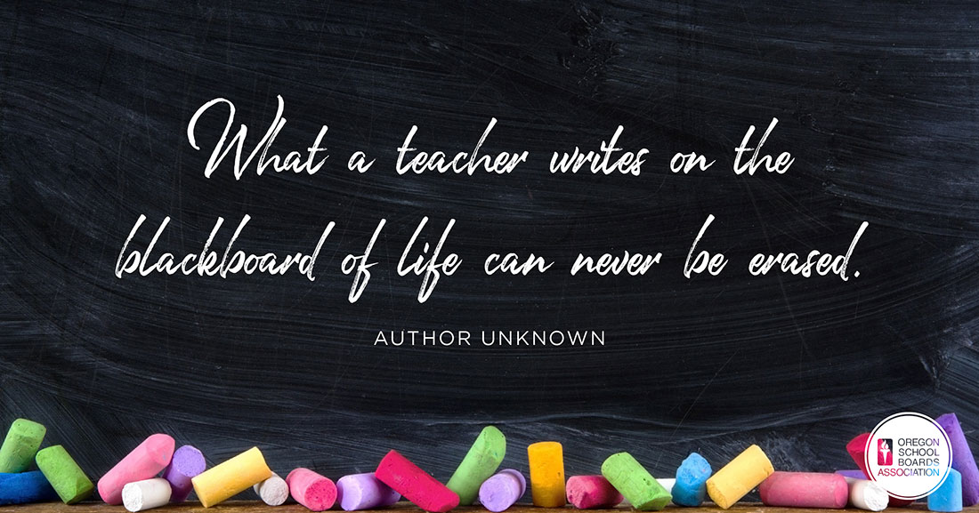 What a Teacher writes on the blackboard of life can never be erased Graphic