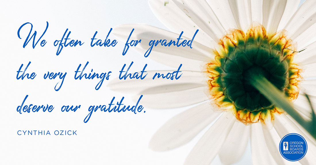 We often take for granted the very things that most deserve our gratitude Graphic