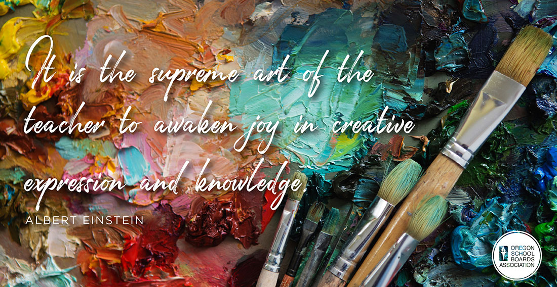 Is is the supreme art of the teacher to awake joy in creative expression and knowledge Graphic