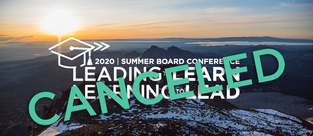 Summer Board Conference 2020 Canceled
