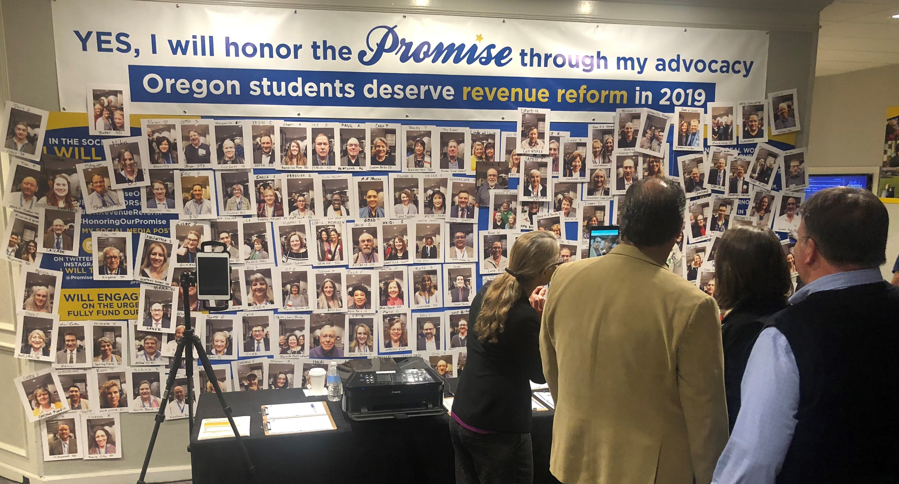 Photo of Advocacy Wall at OSBA convention.