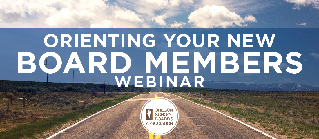 Orienting New Board Members Webinar Banner