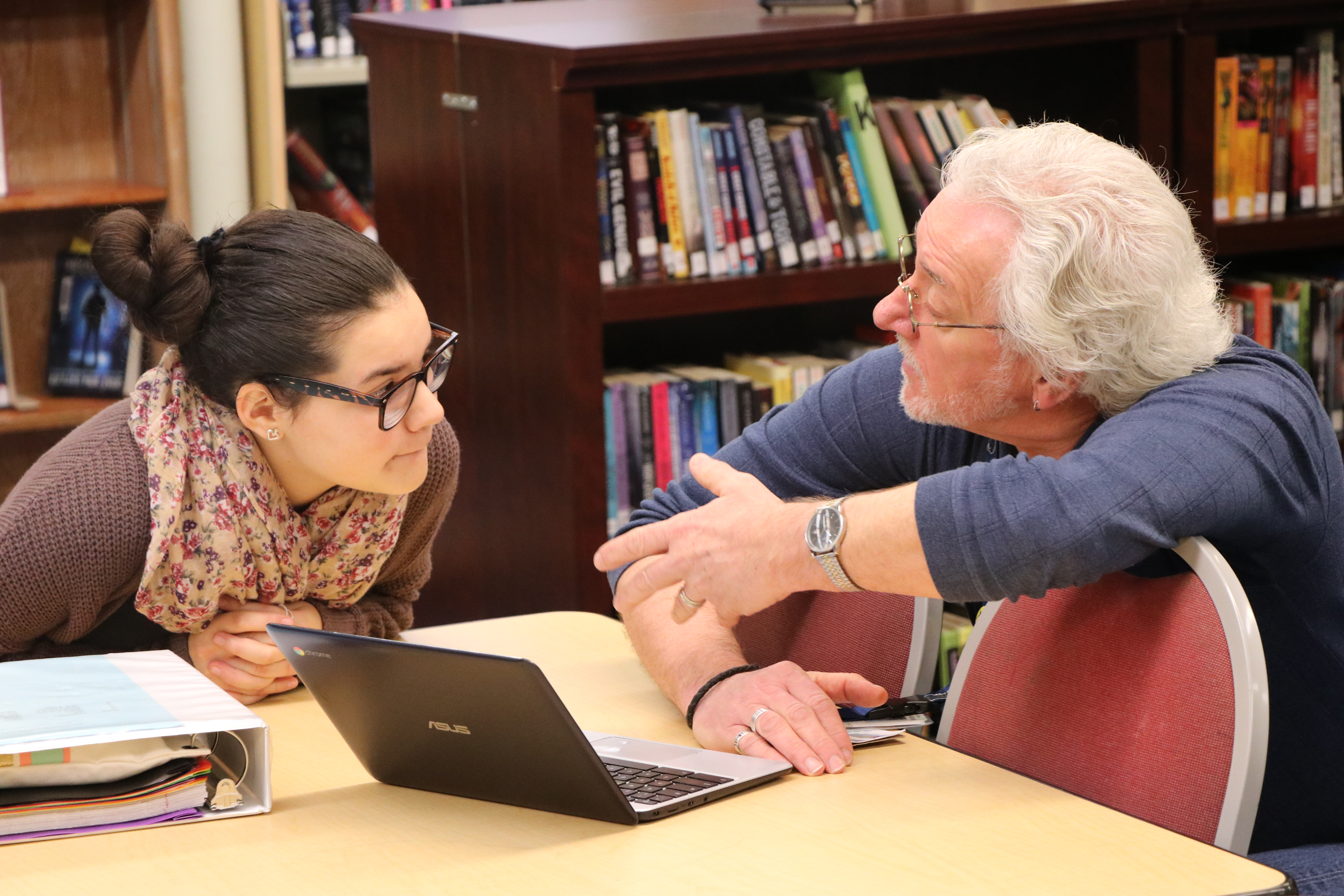 Photo - Danna Saldivar works with George Roberts